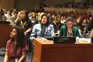 UN Secretary General  Antonio Guterres meets with NGOs during CSW61