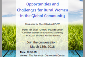 Opportunities and Challenges for Rural Women in the Global Community
